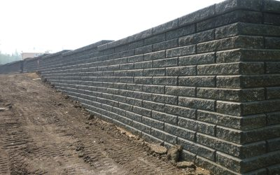 Com-Con installed massive walls in the Eagle Ridge Subdivision of Fort McMurray, AB